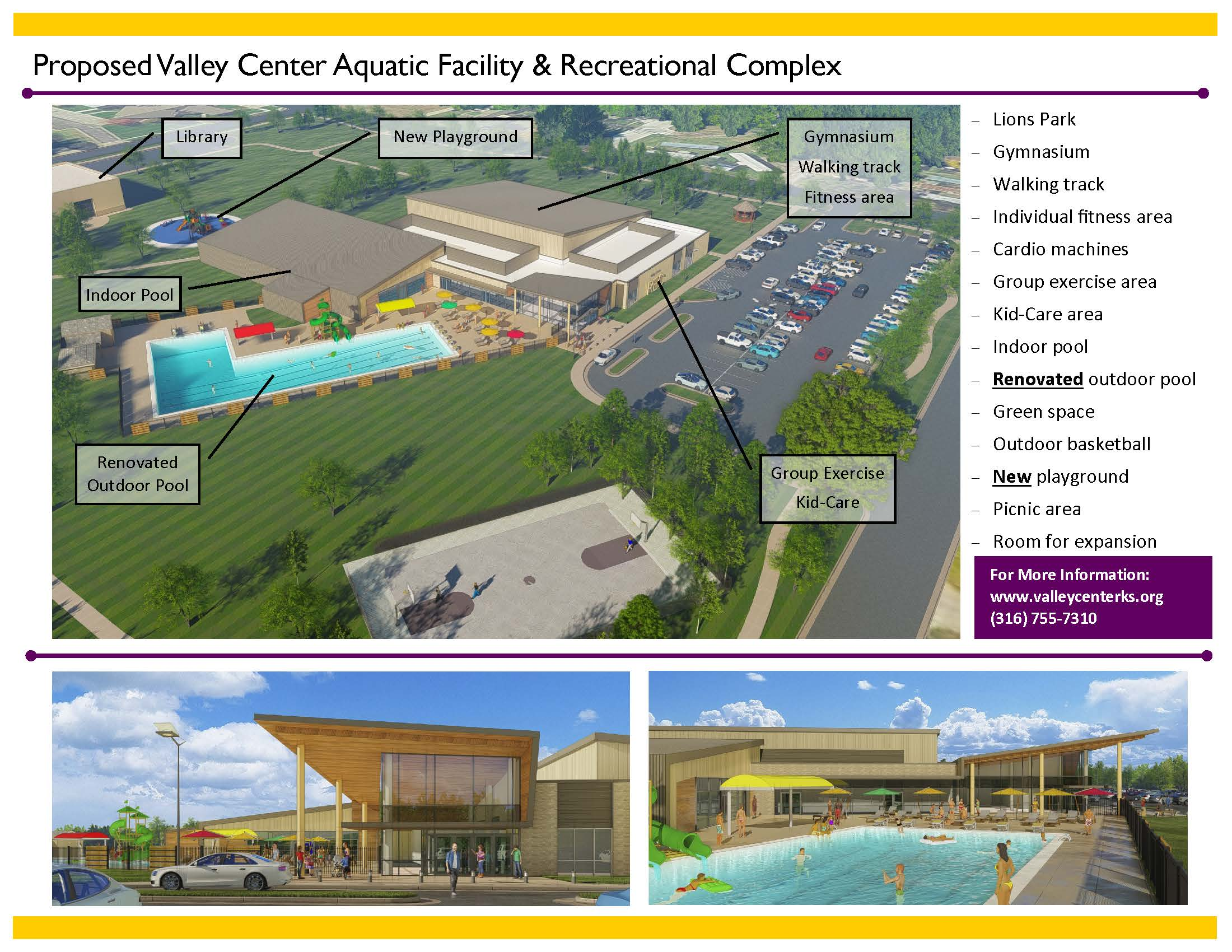 VC Aquatics Facility and Recreational Center Flyer Page Two